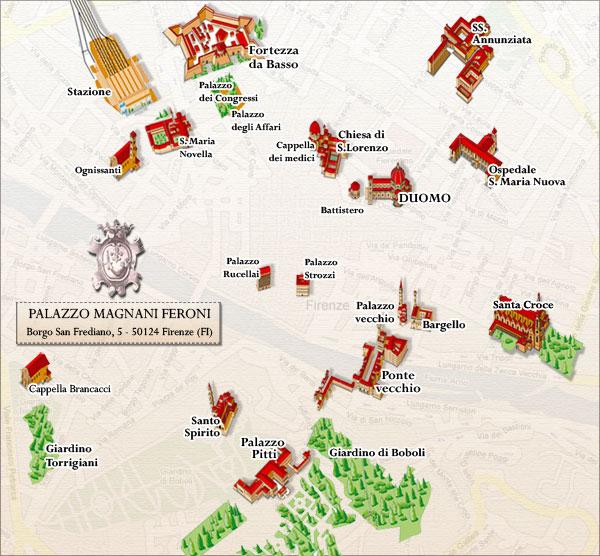 Plano de acceso de Hotel Palazzo Magnani Feroni