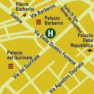Plano de acceso de Hotel 2000 Roma