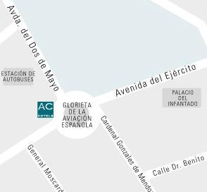 Plano de acceso de Ac Hotel. Guadalajara