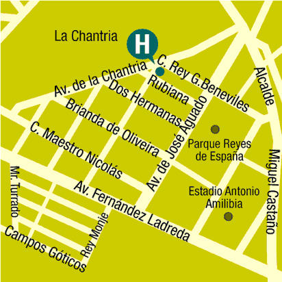 Plano de acceso de Hotel Ac Leon San Antonio