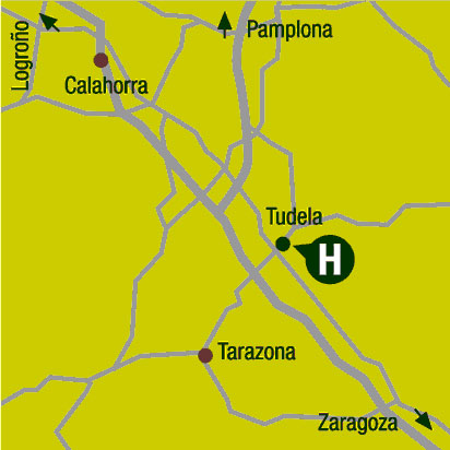 Plano de acceso de Hotel Ac Ciudad De Tudela