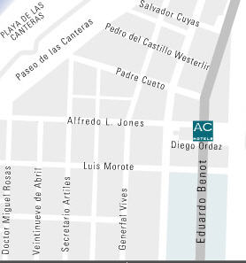 Plano de acceso de Hotel Ac Gran Canaria