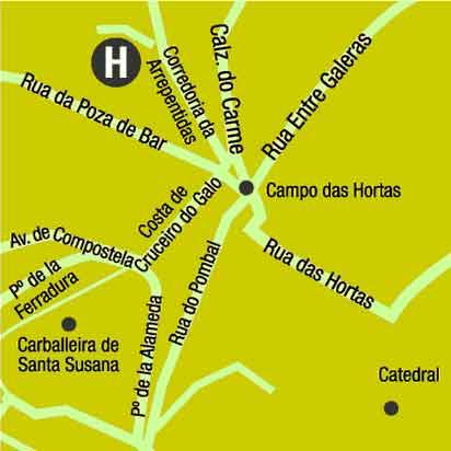 Plano de acceso de Hotel Ac Palacio Del Carmen