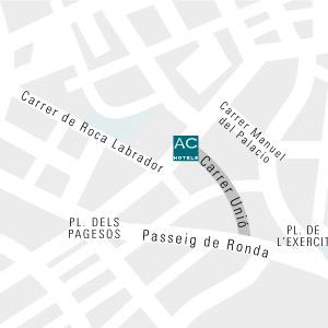 Plano de acceso de Hotel Ac Lleida