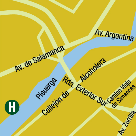 Plano de acceso de Hotel Ac Palacio De Sta Ana