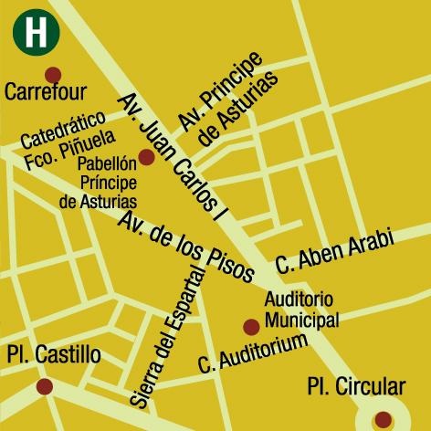 Plano de acceso de Hotel Ac Murcia