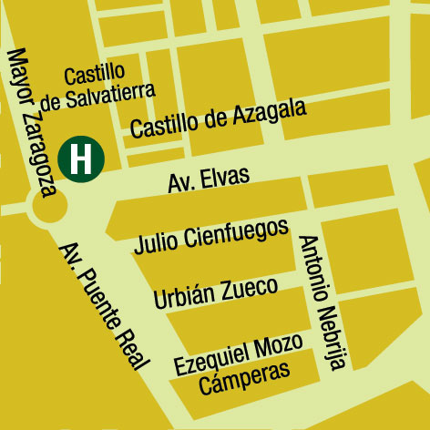 Plano de acceso de Hotel Ac Badajoz