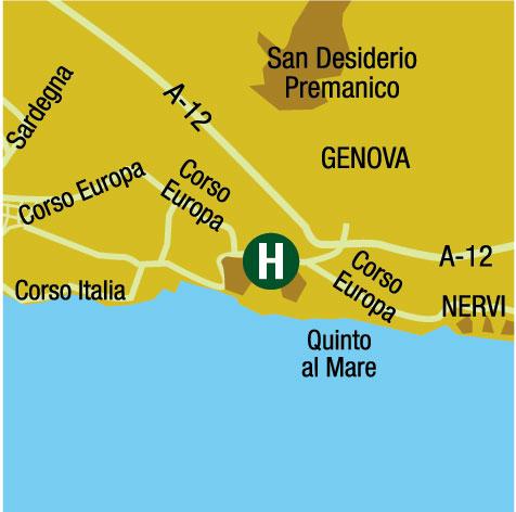 Plano de acceso de Hotel Ac Genova