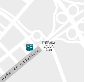 Plano de acceso de Hotel Ac Huelva