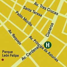 Plano de acceso de Hotel Ac Zamora