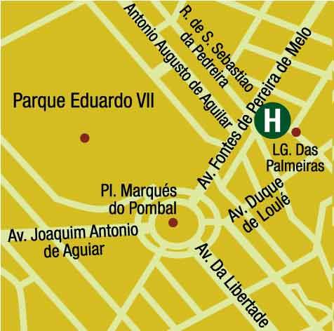 Plano de acceso de Hotel Ac Lisboa