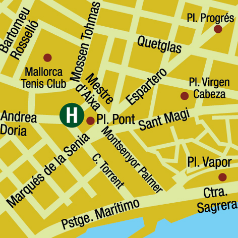 Plano de acceso de Hotel Ac Ciutat De Palma