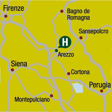 Plano de acceso de Hotel Ac Arezzo