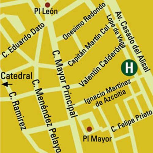 Plano de acceso de Hotel Castilla Vieja
