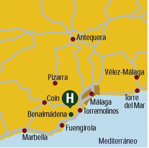 Plano de acceso de Hotel Torrequebrada