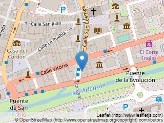 Plano de acceso de Hotel Almirante Bonifaz