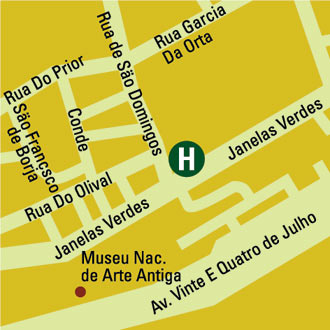 Plano de acceso de Hotel York House
