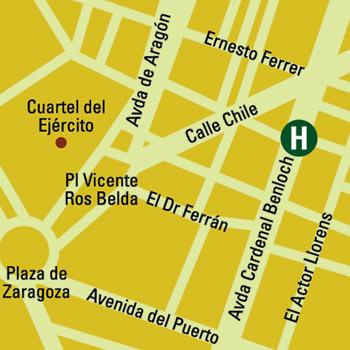 Plano de acceso de Hotel Silken Puerta Valencia