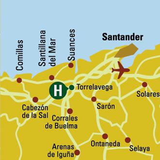 Plano de acceso de Hotel Husa Torresport