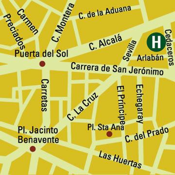 Plano de acceso de Hotel Vincci Centrum