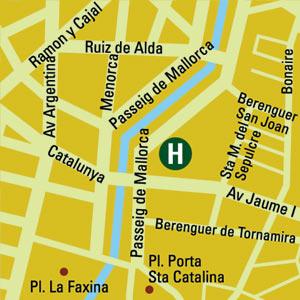 Plano de acceso de Hotel Hm Jaime Iii