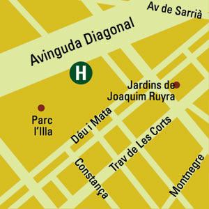 Plano de acceso de Hotel Husa Illa