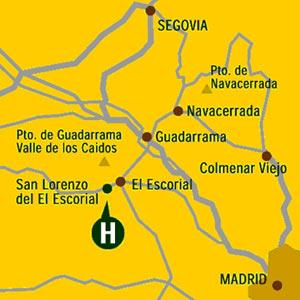 Plano de acceso de Hotel Miranda Suizo