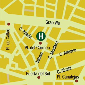 Plano de acceso de Hotel Anaco