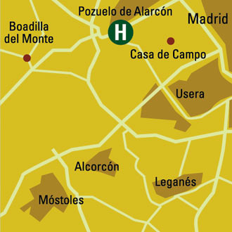 Plano de acceso de Hotel Pozuelo