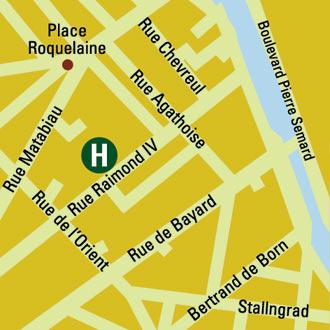Plano de acceso de Grand Hotel Raymond Iv
