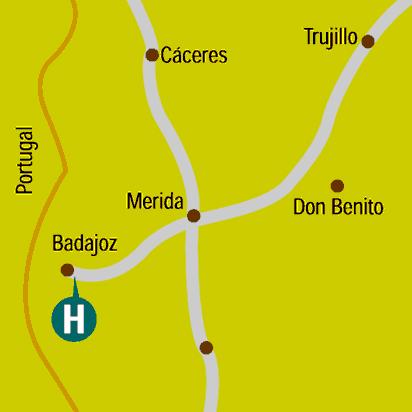 Plano de acceso de Hotel Badajoz Center