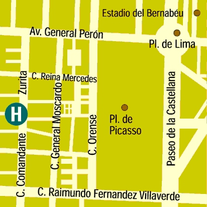 Plano de acceso de Espahotel Plaza Basilica