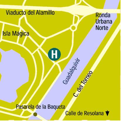 Plano de acceso de Hotel Barcelo Renacimiento