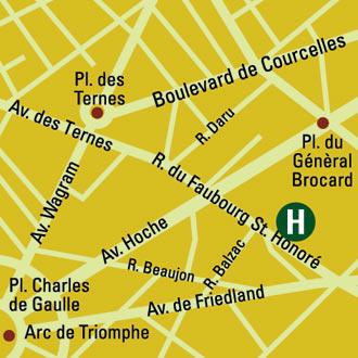 Plano de acceso de Hotel Royal Garden Champs Elysée