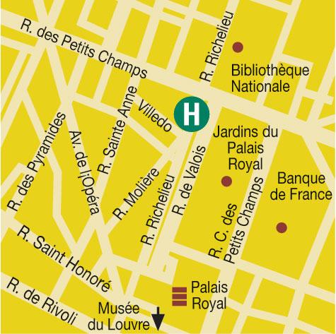 Plano de acceso de Hotel Washington Opera (75001)