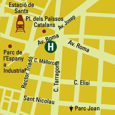 Plano de acceso de Gran Hotel Torre Catalunya