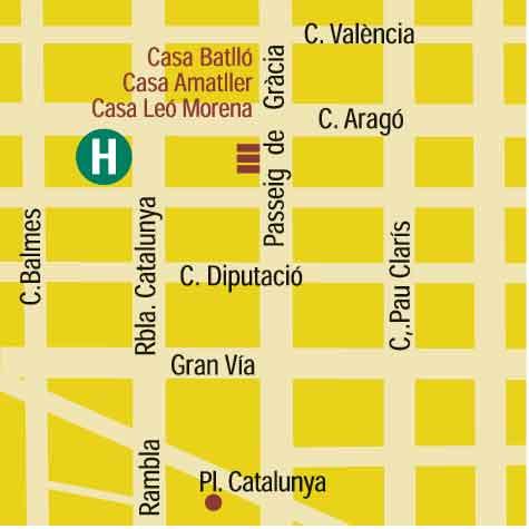 Plano de acceso de Hotel Hcc Taber