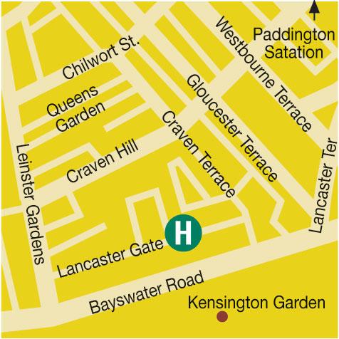 Plano de acceso de Hotel London Guards