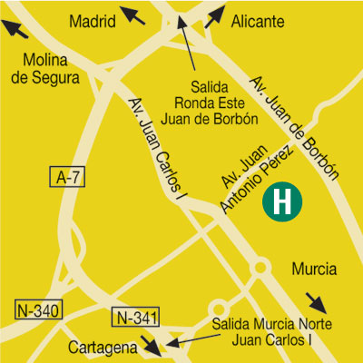 Plano de acceso de Hotel Campanile Murcia