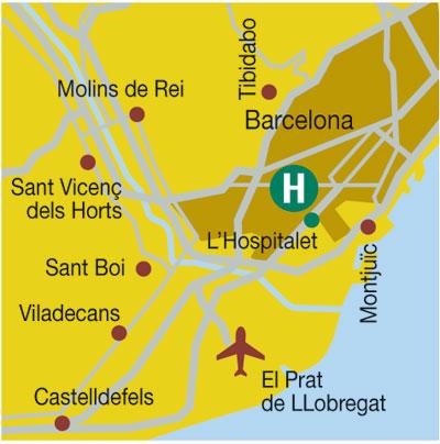 Plano de acceso de Hotel Solvasa Barcelona