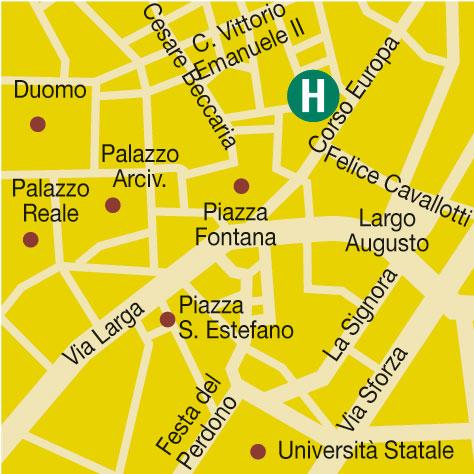 Plano de acceso de Hotel Galileo