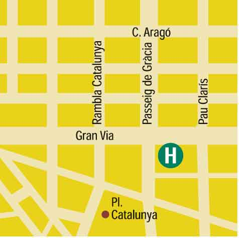 Plano de acceso de Hotel Granvia