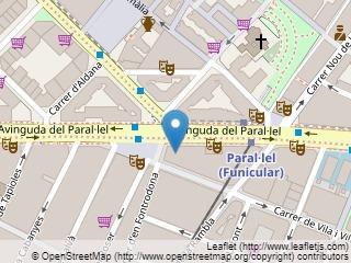 Plano de acceso de Hotel Barcelona Universal