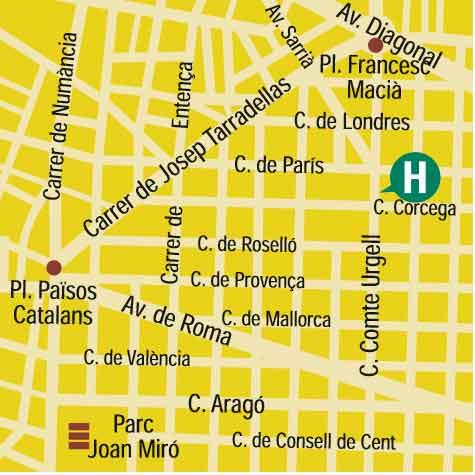 Plano de acceso de Hotel U232