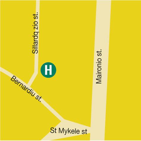 Plano de acceso de Hotel Shakespeare
