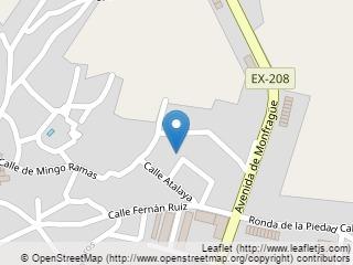 Plano de acceso de Hotel Parador Trujillo