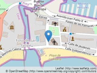 Plano de acceso de Hotel Parador Ceuta