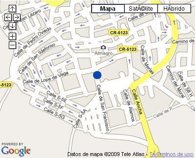 Plano de acceso de Hotel Parador Almagro