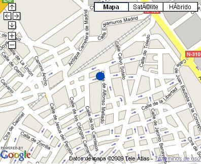 Plano de acceso de Hotel Parador Manzanares