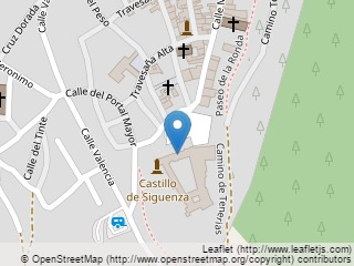 Plano de acceso de Hotel Parador Sigüenza